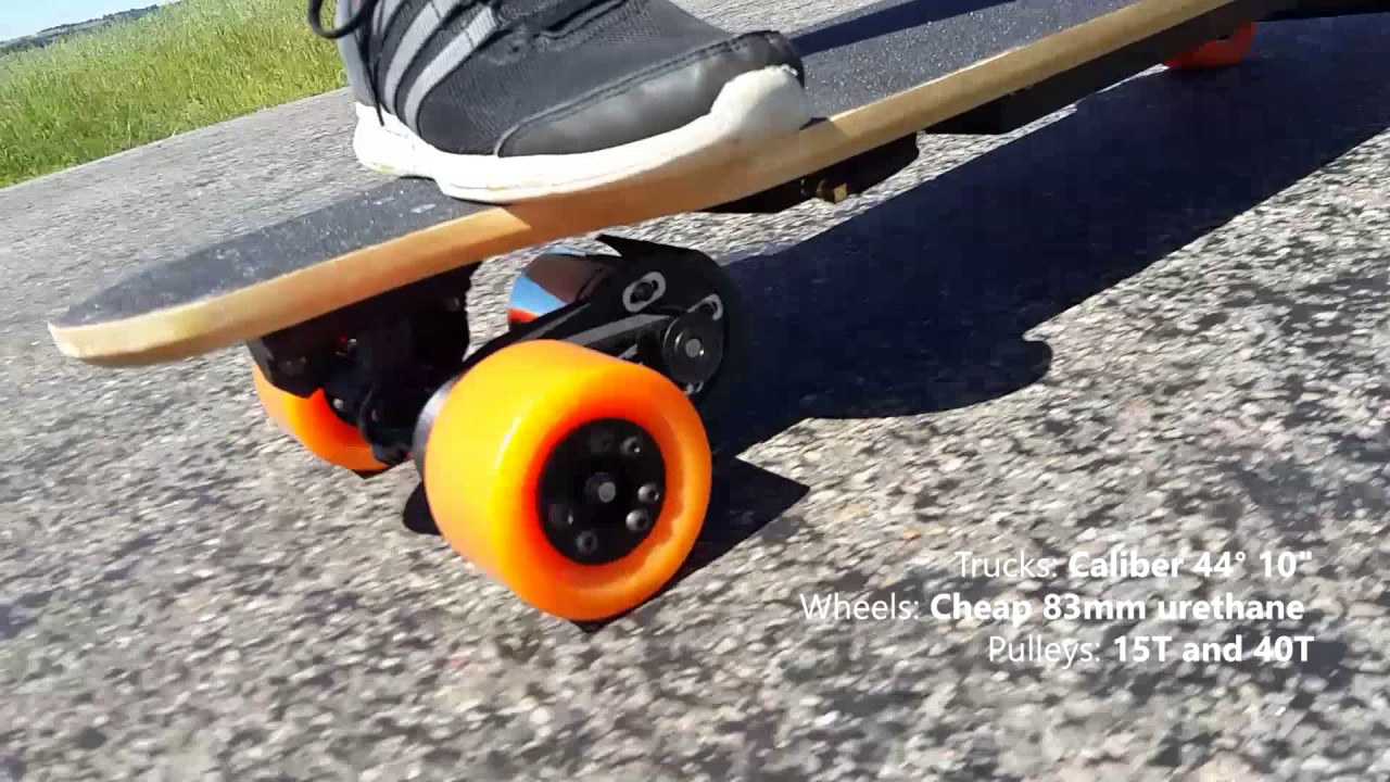 Diy Electric Longboard 40 Kmph Vesc 6 Youtube
