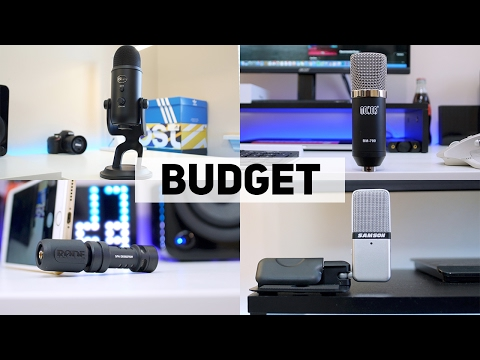 Best BUDGET YouTube Microphones 2017🎤!