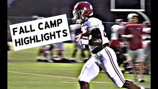 Watch Alabama Quarterbacks throw to Running Backs