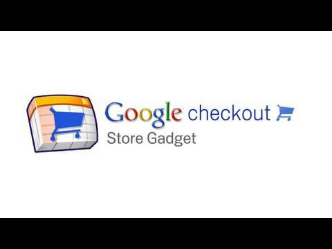 Create a store with Google Checkout store gadget