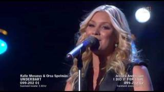 2. Jessica Andersson - I Did It For Love - Omgång 2 (Melodifestivalen 2010 Andra Chansen)