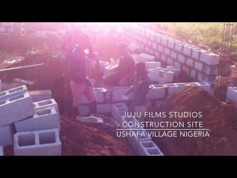 Juju Films Studios Construction Site in Ushafa Village (Bricklaying)