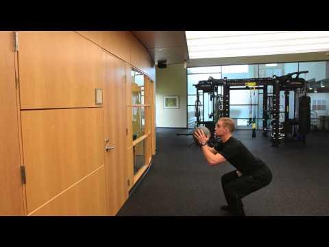 Squat toss w/Medicine Ball