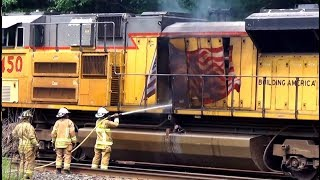 Doors Blown Off of US Military Train Engine Explosion