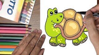 Dạy bé tập vẽ con rùa