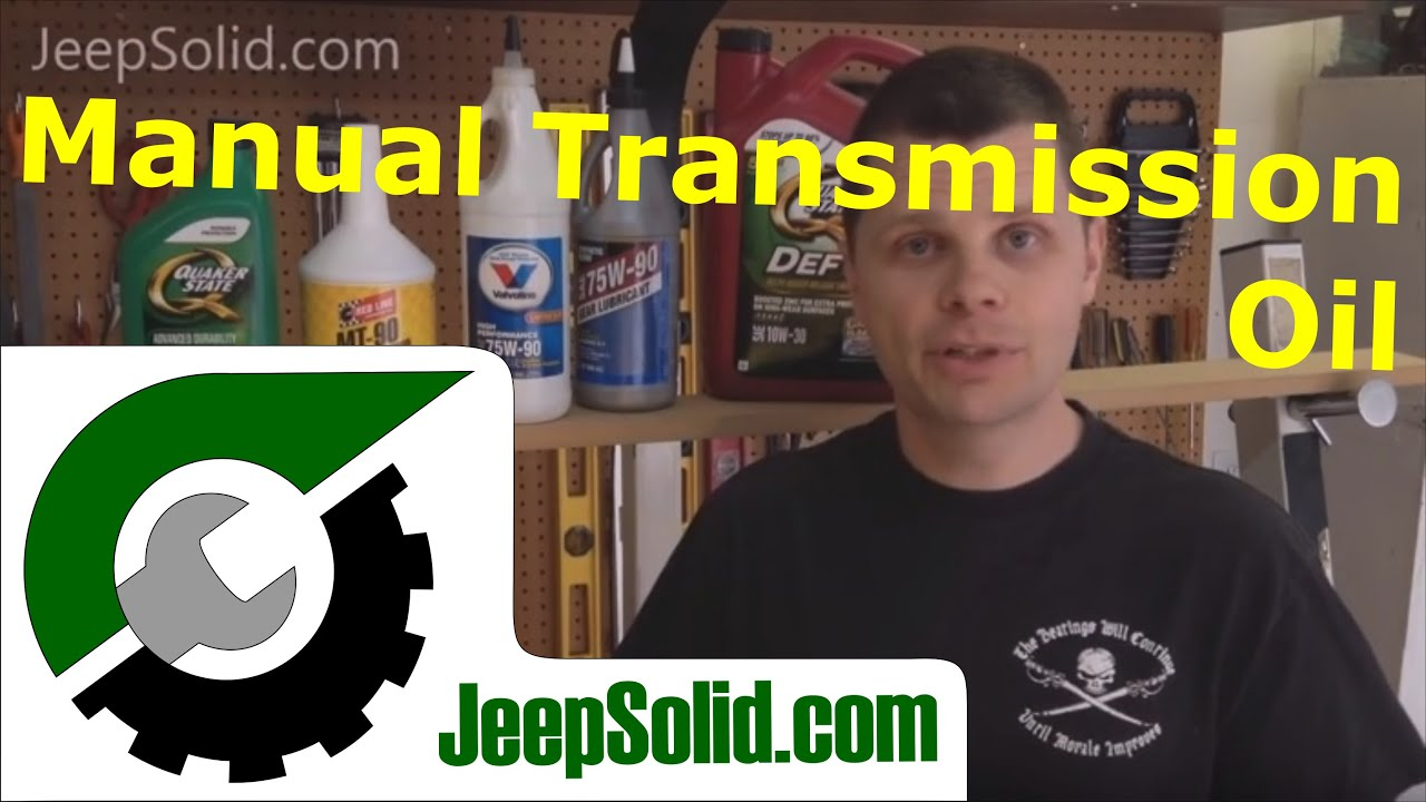 Jeep transmission fluid: AX-15 manual transmission oil