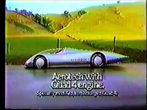 1988 Oldsmobile Cutlass Calais 2-door coupe Aerotech Quad 4 TV Commercial