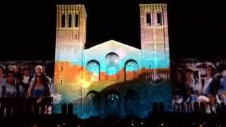 UCLA Let There Be projection mapping laser light show on Royce Hall for Thank UCLA 2014. Go Bruins!