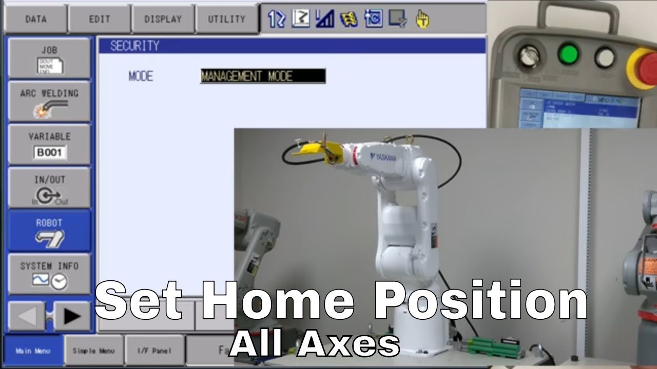 DX200 - How to set home position on all axes