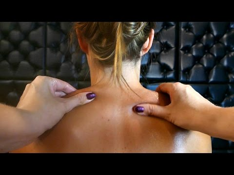 ASMR Massage Back, Neck & Shoulders, Binaural Ear to Ear Whisper POV Role Play