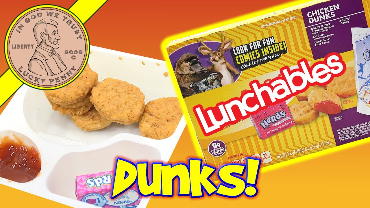Lunchables Chicken Dunks Kids Lunchroom Snack Youtube
