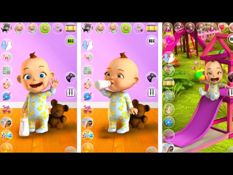 Talking Babsy Baby Baby Games Android İos Free Game GAMEPLAY VİDEO