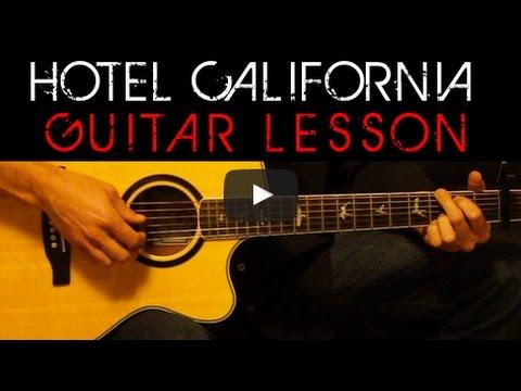 The Eagles Hotel California Acoustic Guitar Tutorial Easy Lesson