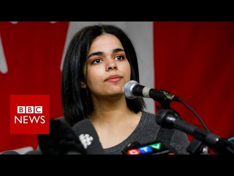 Rahaf Mohammed: Saudi teen's first public statement in Canada - BBC News