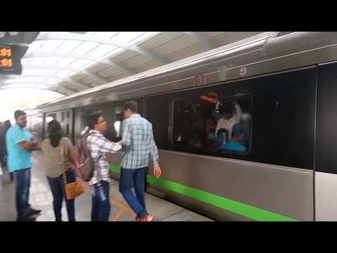 Namma Metro Green Line (Bangalore) - Acceleration, Braking, Sounds