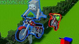 CARA MEMBUAT MOTOR DI MINECRAFT !!