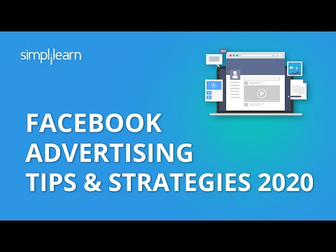 Facebook Advertising Tips & Strategies 2020   Facebook Advertising Tips   Facebook Ads   Simplilearn