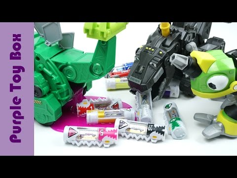Thumbnail: Dinosaur Poop Dinocells, Dinotrux And Dinoforce Brave Dinosaur Robot Toys