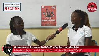 ISJA - DKR - Gouvernement scolaire 2019-2020 - Interview Eva Fall