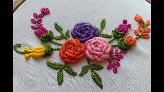 Hand Embroidery - Brazilian Embroidery - Bullion Knot Rose Embroidery