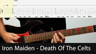 Iron Maiden - Death Of The Celts Intro Guitar Riff With Tabs