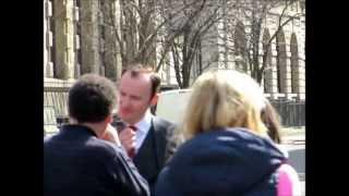 Mark Gatiss behind the scenes of Sherlock Series 3 - 14/04/2013
