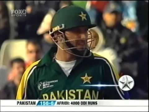 Shahid Afridi 25 12 Balls Vs India 2004 ICC Champions Trophy