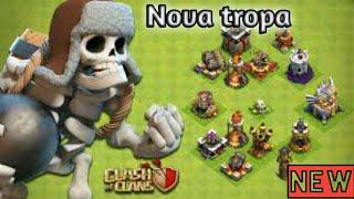 Clash of clans: nova tropa Esqueleto gigante