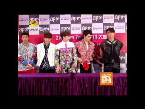 150213【Hunan Entertainment News】2PM Hi-Touch & Press Con. (World Tour Go Crazy in HongKong