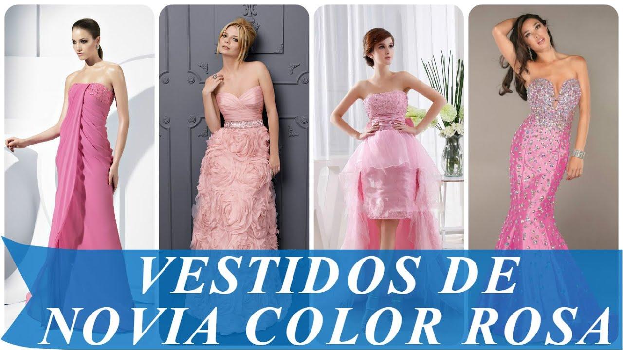 Encantador Vestido De Novia Rosa Bandera - Colección de Vestidos de ...