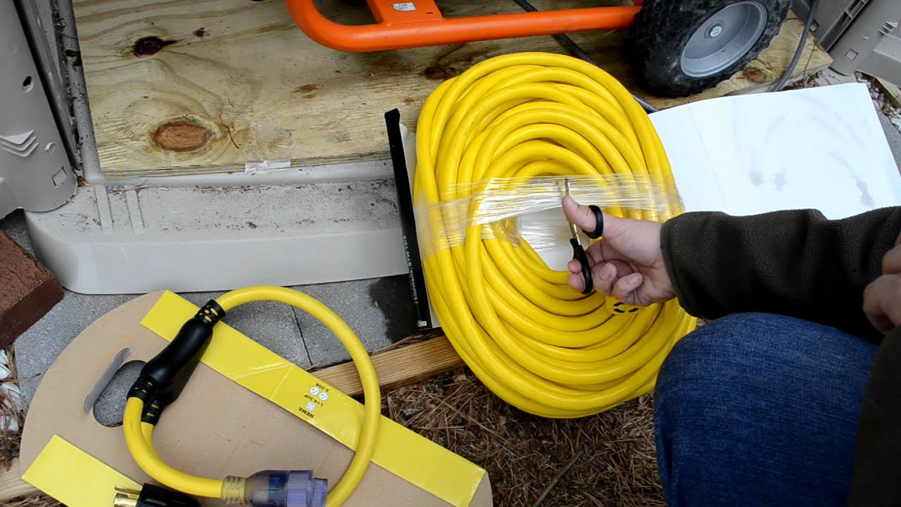 Ac Adapter Wiring 100ft 10 4 Awg Generator Cord Voltage Drop Test Youtube