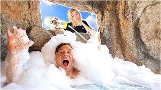 Bubble Bath Swimming Pool Prank On Fiancé! 🛁 (WHAT HAPPENS?!) // SoCassie