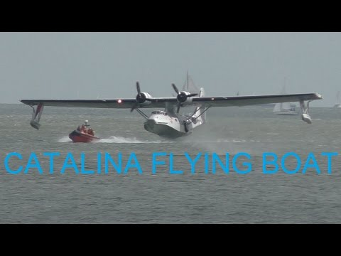 FLYING BOAT! Consolidated PBY Catalina PH -PBY take off from water + flyby!