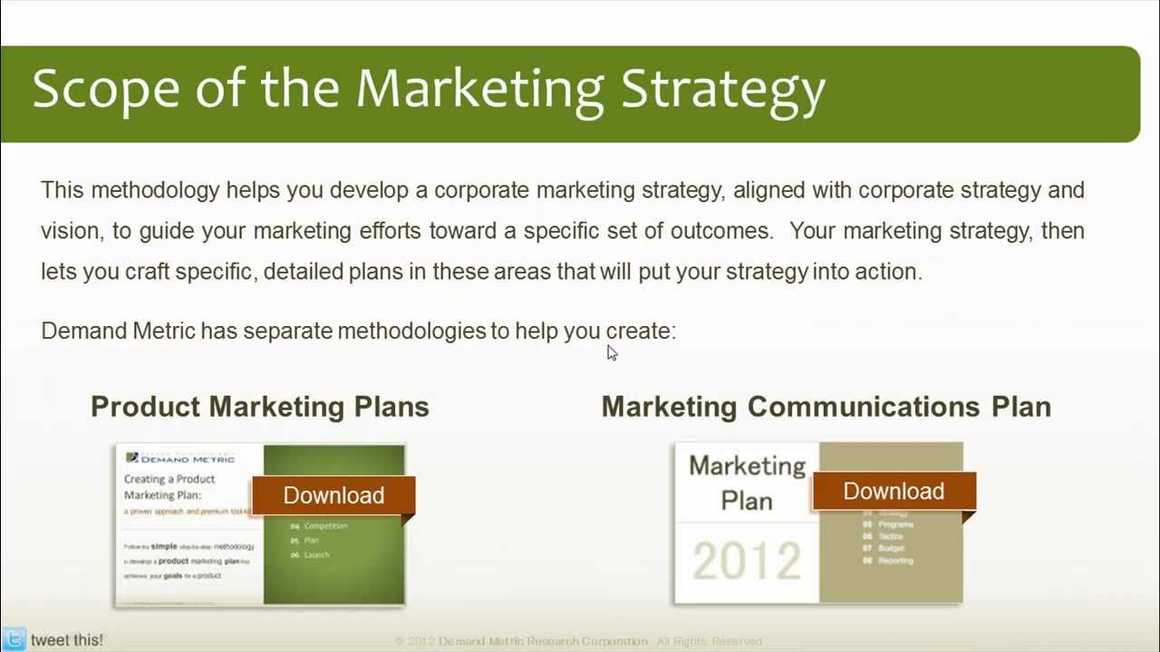 marketing strategy plan methodology youtube