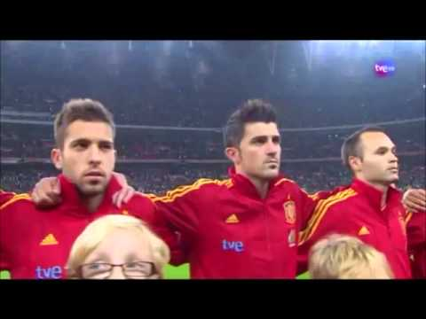 2011.11.12 Spain National Anthem v England - Friendly
