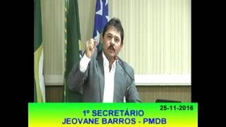 Jeovane Barros Pronunciamento 25 11 16