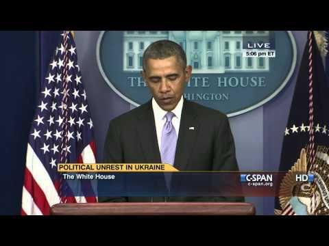 President Obama statement on Ukraine (C-SPAN)