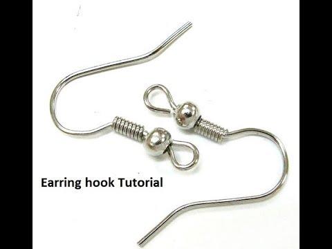 Diy Earring Hook Kidney Making Tutorial