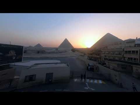 GoPro HERO6 1080HD Time Lapse |Sunset at Pyramids of Giza, Egypt