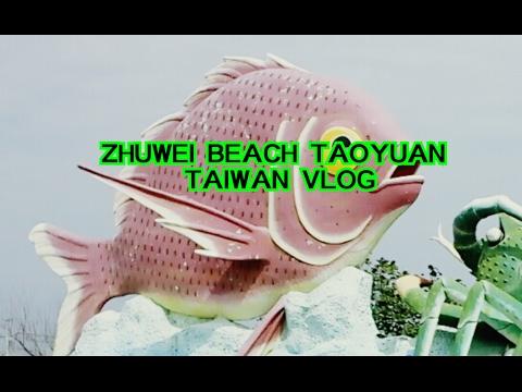 Taiwan Travel Vlog~Biking to Zhuwei Beach Taoyuan