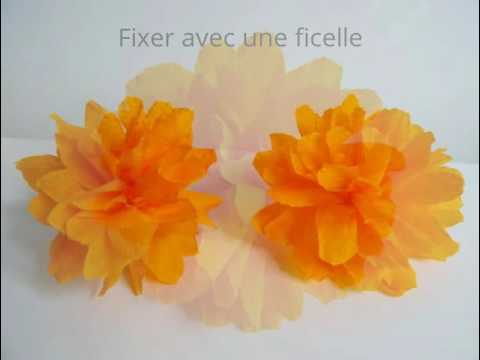 Diy Creer Des Fleurs En Papier Crepon Youtube