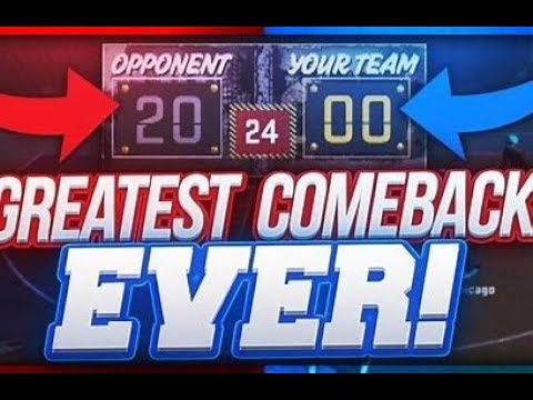 NBA 2K19 Crazy 1 V 1 against CloudyMayo (Greatest Comeback Ever !!!)