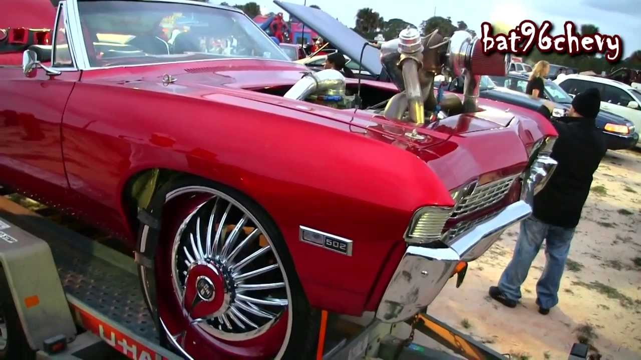 Turbo Charged Candy Red 68 Chevy Impala On 28 Quot Dub Skirt