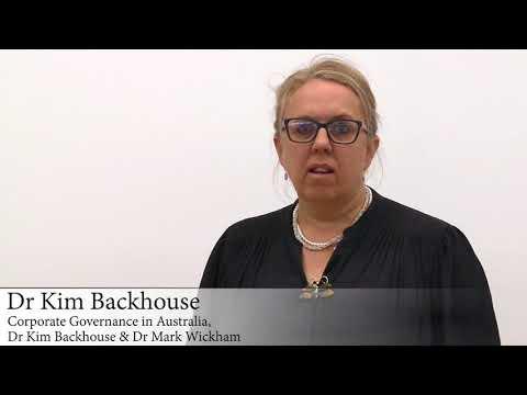 Dr. Kim Backhouse On Corporate Governance In Australia
