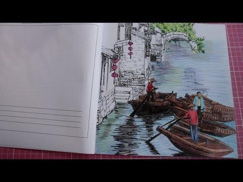colorindo-paisagem-e-embarcação---paisagens-cidades-e-flores
