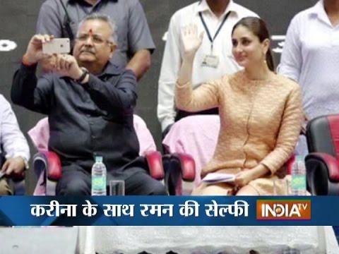 Chhattisgarh CM Raman Singh Takes selfie with Kareena Kapoor, Opposition Attacks