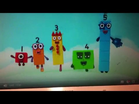 Numberblocks Theme Sg whit 6, 7, 8, 9 and 10