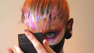 Abstract creative fantasy make-up in the process
