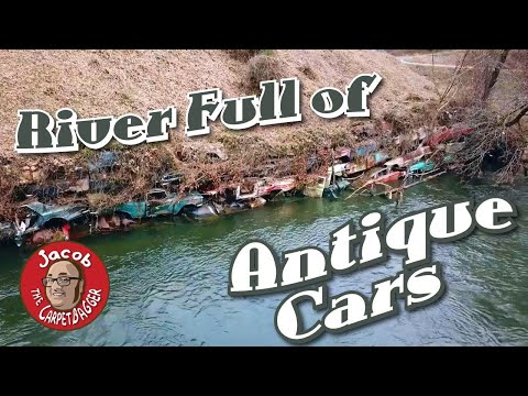 River Full of Antique Cars