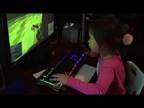 Eva doing Halloween Clock Tower  jumping puzzle